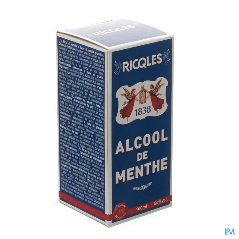 RICQLES ALCOOL DE MENTHE FL 10CL