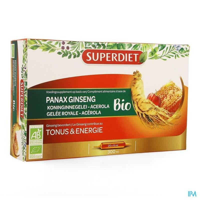 SUPER DIET GINSENG-GELEE ROYALE BIO AMP 20X15ML
