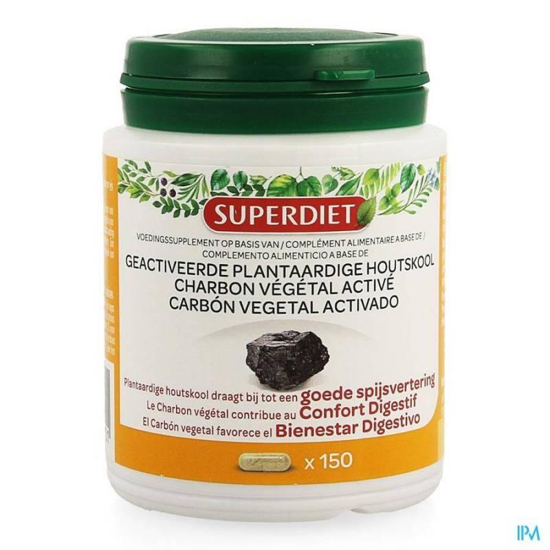 SUPER DIET CHARBON VEGETAL ACTIVE CAPS 150