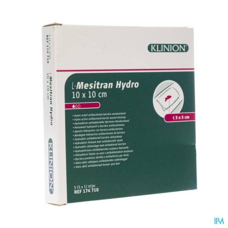 L-MESITRAN COMPRESSE HYDRO 10X10CM 5