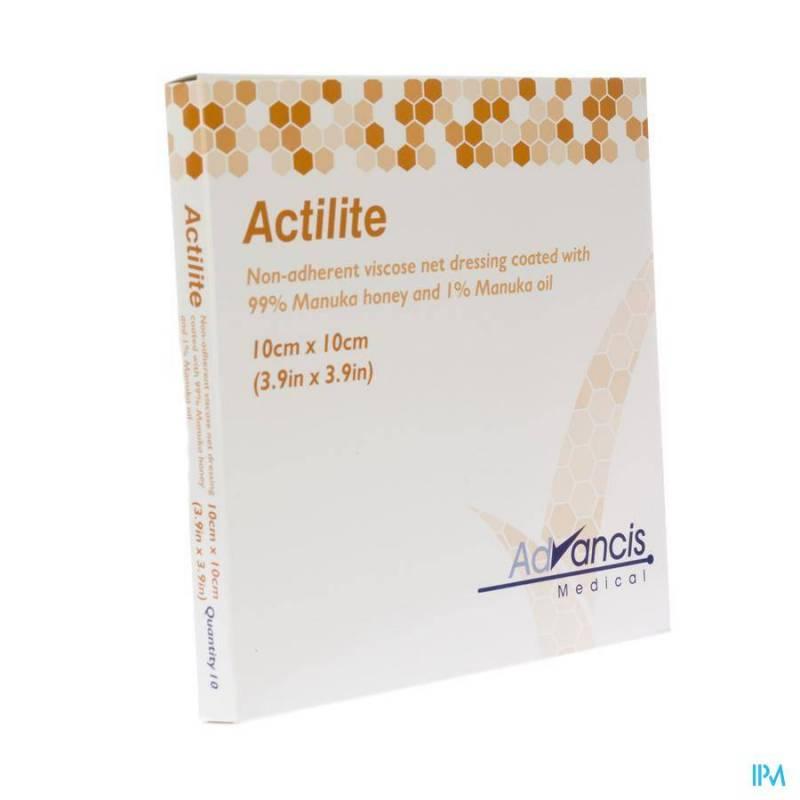 ACTILITE PANS ACTIVON A/BACT. N/ADH 10X10CM 10