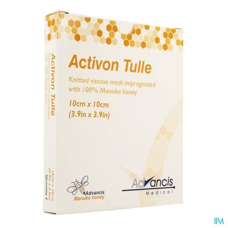 ACTIVON TULLE PANS N/ADH 10X10CM 5