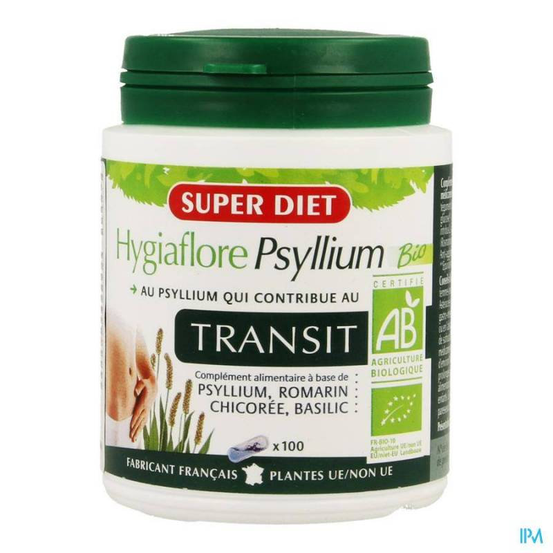SUPER DIET HYGIAFLORE PSYLLIUM CAPS 100