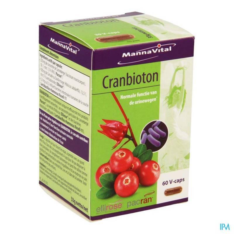 MANNAVITAL CRANBIOTON V-CAPS 60