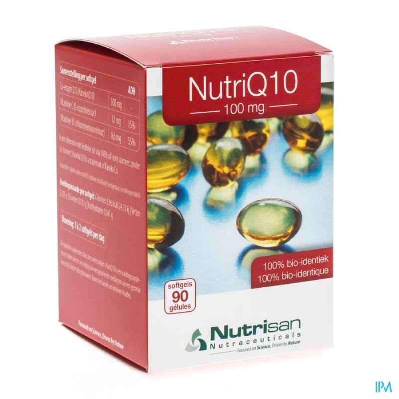 Nutri Q10 100mg Nf Softgels 90 Nutrisan